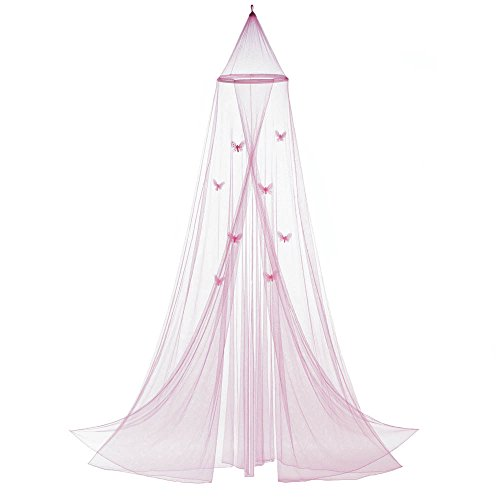 Canopy, Mosquito Net Bed Canopy, Child Bed Pink Butterfly Crib Canopy ()