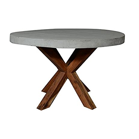 Amazoncom Renville Round Concrete Dining Table Tables - Oval concrete dining table