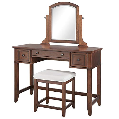 Crosley Furniture Vista 3 Piece Bedroom Vanity Set in Mahogany
