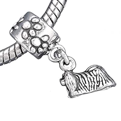 Pekingese-Dog-925-Solid-Sterling-Silver-European-Dangle-Bead-Charm-for-Pendant-or-Bracelet-by-Charm-Crazy