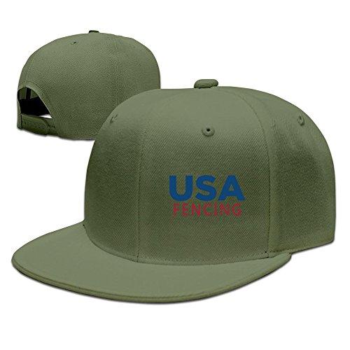 USA Fencing Adjustable Flat Brim Cap Snapback Hip
