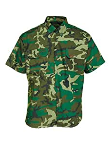 Benisport - Camisa de manga corta talla 45, color camuflaje