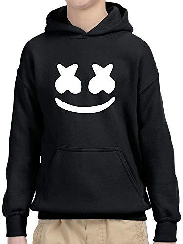 New Way 1137 - Youth Hoodie Marshmello DJ Smiley Face Unisex Pullover Sweatshirt XL Black