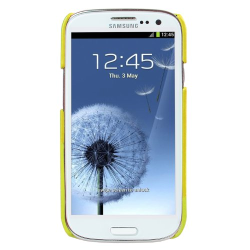 Melkco - Leather Snap Cover for Samsung Galaxy SIII I9300 - (Yellow) -  SSGY93LOLT1YWLC