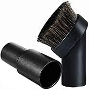 25MM Horse Hair Round Dust Brush 1.25 inch Cleaner Vacuum Attachment Brush Soft Bristles Replacement with 1.25