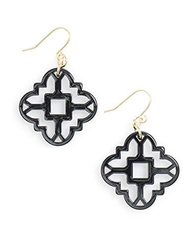 ZENZII Modern Mosaic Acrylic Resin Drop Dangle Earrings for Women Girls Fashion Jewelry ()