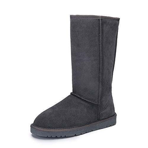 BYUYAN Stiefel Die Winter Schnee Stiefel Stiefel High-Girl Pu-Gummi, rutschhemmend Wasserdichte Baumwolle Stiefel