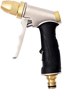 Pistola para regar de Metal, Pistola para Manguera de riego para el jardín - Regulable del Caudal de Agua -para Lavado de Coches, Riego de Jardín/Césped,Brass,Spraygun: Amazon.es: Bricolaje y herramientas