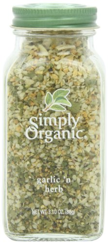 Simply Organic Garlic 'n Herb Certified Organic, 3.1-Ounce Glass Bottle ()