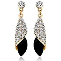 Shining Diva Fashion High Quality AAA 18k Gold Plated Crystal Stylish Fancy Party Wear Earrings For Women & Girls