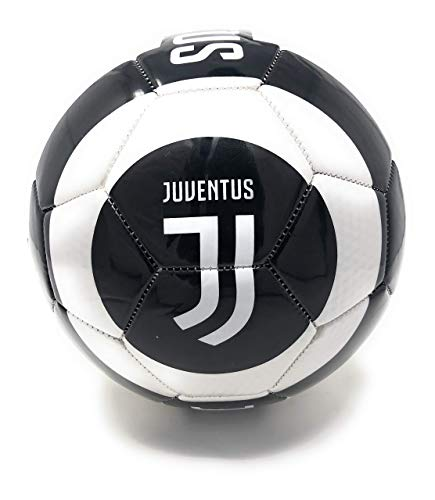 Juventus Soccer Ball Size 5 Official Licensed Futbol Black and White 2019-2020 Great for Players, Fans, Trainers, Coaches Gift (Best Italian Football Players)