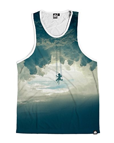 (INTO THE AM Dreamer's Playground Men's Casual Tank Top Shirt (2X-Large))