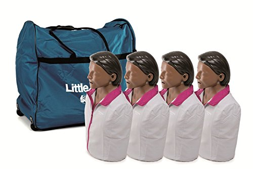 Laerdal Dark Skin Little Anne (4 pack) with Soft Pack/Training Mat - 02002901