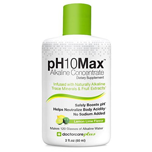 pH10Max Alkaline Water Drops | Infused with Natural Alkaline Trace Minerals & Fruit Extracts | Electrolyte pH Booster | Helps Neutralize Acidity (Lemon Lime)