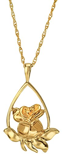 Cremation Memorial Jewelry: Gold Plated Rose Tear -