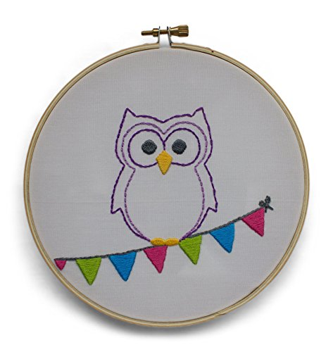 owl embroidery design - 2