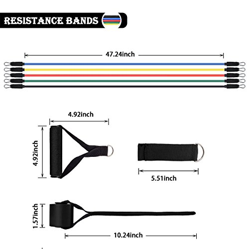 Resistance Bands Set, SLB Exercise Bands With Handles
