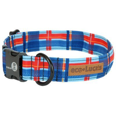 Dublin Dog Co Eco Lucks Hampton Dog Collar, Harbor, 15 by 24-Inch, Large