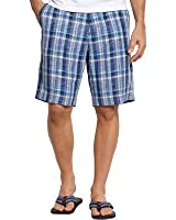 Tommy Bahama Mens Paddleboard Plaid Tencel Blend Linen Dress Shorts