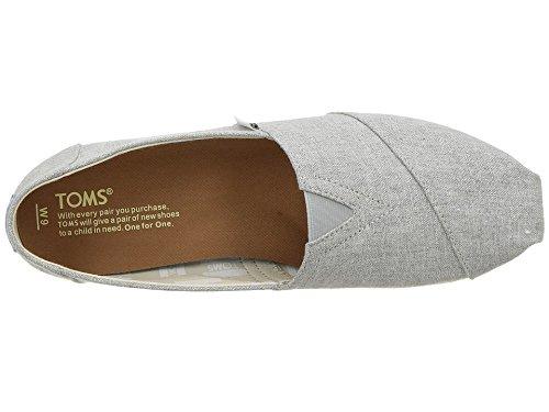 TOMS Women's Classic Slip-on (7 B(M) US, Drizzle Grey Slub Chambray)