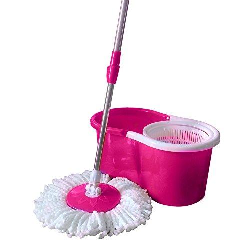 360° Bucket Floor Spin Mop (Pink) - 1