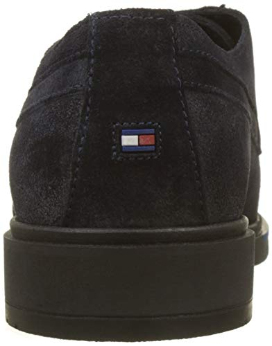 Scarpe Stringate Blu Suede Hilfiger Tommy Derby Dressy 403 Flexible Uomo Shoe Midnight p6RXqFB