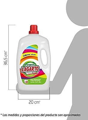 Lagarto Detergente Lavadora Liquido ROPA COLOR 40 lav. Paquete de ...