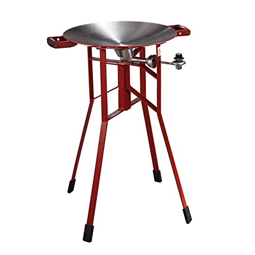FireDisc - Shallow 36'' Backyard Plow Disc Cooker - Fireman Red | Portable Propane Outdoor Camping Grill by BTI Outfitters