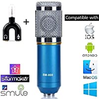 StudioStar BM-800 Condenser Microphone for Professional Studio (Microphone + Input output splitter)