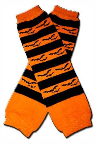 orange black bats halloween baby leggingsleggiesleg warmers little girls
