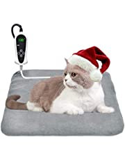 """Newest Pet Heating Pad 18"""" x 18"""" Electric Dog Cat Heated Pad Waterproof Auto Power Off Indoor Use Grey"""