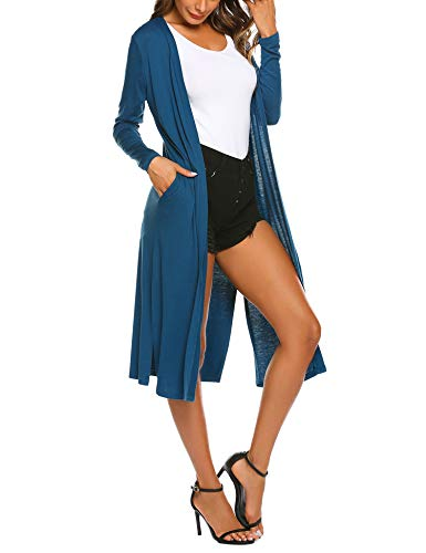 Beyove Women's Casual Open Front Long Sleeve Cardigan Sweater with -