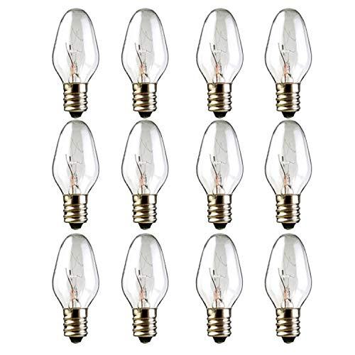 12-Pack, 15 Watt Wax Melt Warmer Light Bulbs for Scentsy Plug-in Nightlight Warmer Wax Diffuser and Candle Warmers