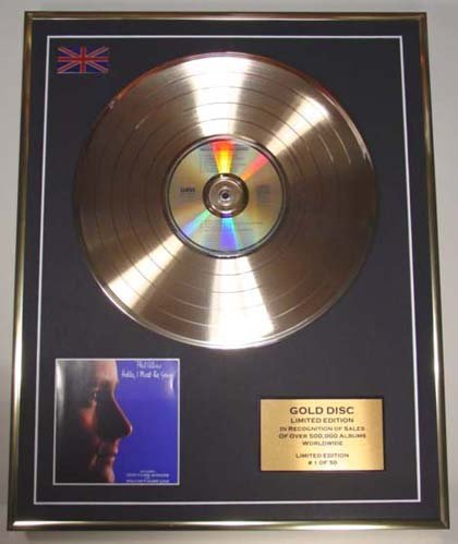 Price comparison product image PHIL COLLINS/Cd Gold Disc Record Limited Edition/HELLO, I MUST BE GOING