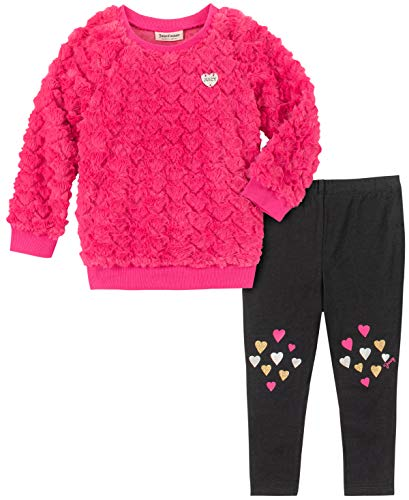 Juicy Couture Girls' Big 2 Pieces Legging Set, Pink/Black, 7 from Juicy Couture