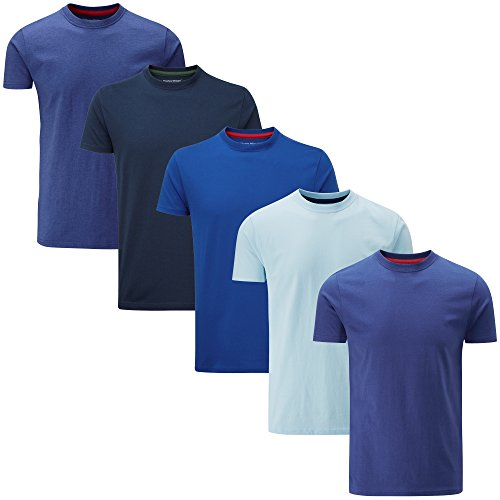 blauw Charles Wilson effen pack Gemengde kleur shirts Ronde T hals 5 nB1CnvTwq