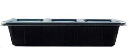Qifengshop Caja de Almuerzo desechable Negra 400 Cajas Caja de ...