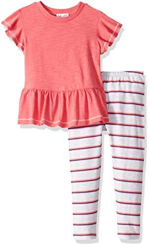 Splendid Toddler Girls' Kids and Baby Short Sleeve Top and Bottom 2 Piece Set, Shanghai La Rose, 4T