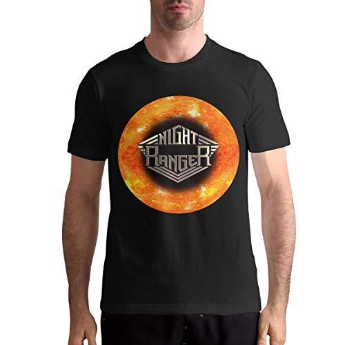 Night Ranger T-Shirts Mens Cotton Short Sleeve O Neck Tees Spring Summer Casual Blouse Tops Tees,Black,X-Large ()