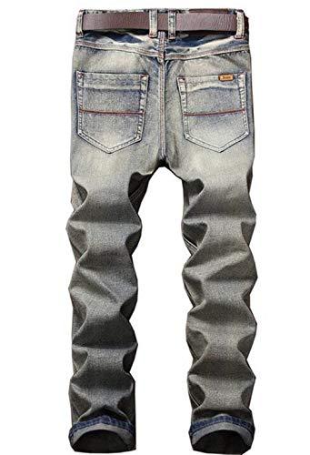 Pantalones Vaqueros Pantalones Pantalones Blau Hombres Originales Dril Algodón Clásicos Skinny Delgados Delgados Vaqueros del Vaqueros Ocio Algodón del Rectos De Apeados Delgados del Simplicidad De dr7OxqwSUd