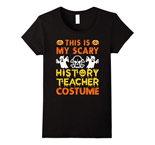 Womens This is My Scary History Teacher Costume Halloween shirt Medium Black