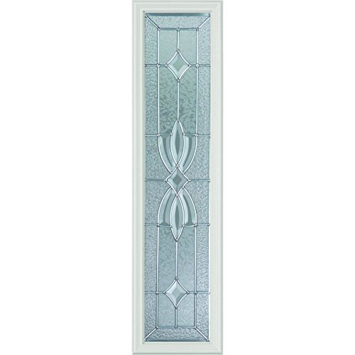 Western Reflections Laurel Door Glass - 10'' x 38'' Frame Kit, Nickel Caming by Western Reflections