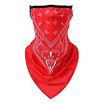 Face Scarf Bandana Ear Loops Face Rave Balaclava Men Women Neck Gaiters for Dust Wind Motorcycle Cover Red at  Women's Clothing store