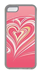 iPhone 5C Cases & Covers - Pink Vortex Of Love Custom TPU Soft Case Cover Protector for iPhone 5C - Transparent