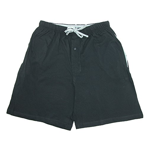 Cotton Jersey Knit Shorts (Hanes Men's Jersey Knit Cotton Button Fly Pajama Sleep Shorts, Large,)