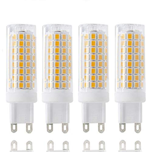 G9 LED All New g9 led Bulb Daylight lamp 8w Equivalent 100w Halogen Bulb 800lm 110v 120v Voltage Input G9 bi-pin Base Corn Bulb Warm White 3000k(4 Pack of) (Warm White) ()