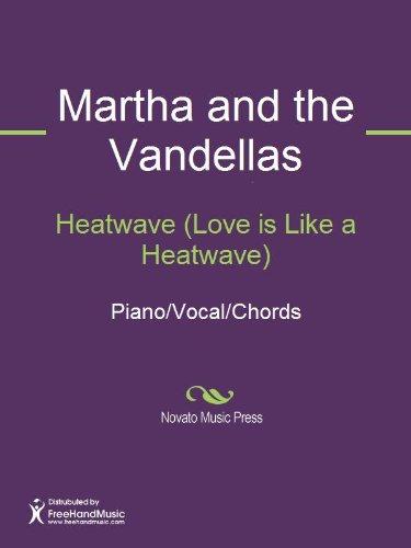 Heatwave Love Is Like A Heatwave Sheet Music Pianovocalchords