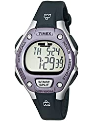Timex Womens Ironman 30-Lap Digital Quartz Mid-Size Watch, Black/Lilac - T5K410