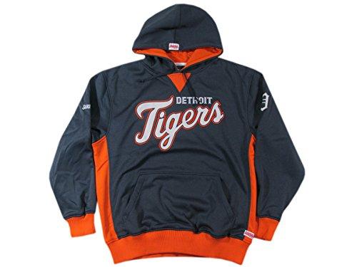 MLB Detroit Tigers Adult Colorblocked Hooded Pullover, Navy, X-Large - Detroit Tigers Hooded Pullover Jacket