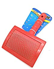 Large Hair Brush For Pets - Red